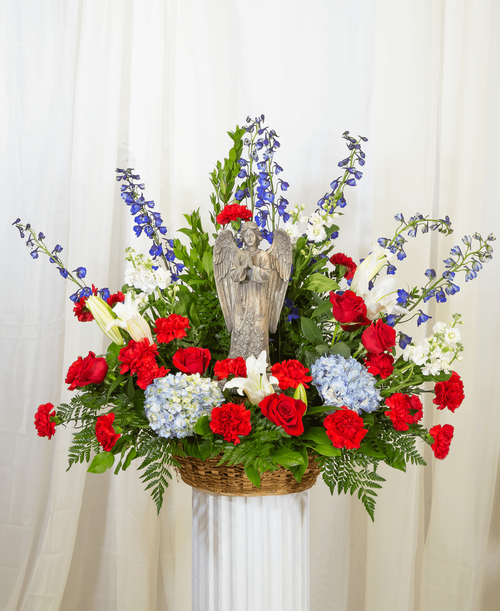 Patriotic Remembrance Basket with custom #1413