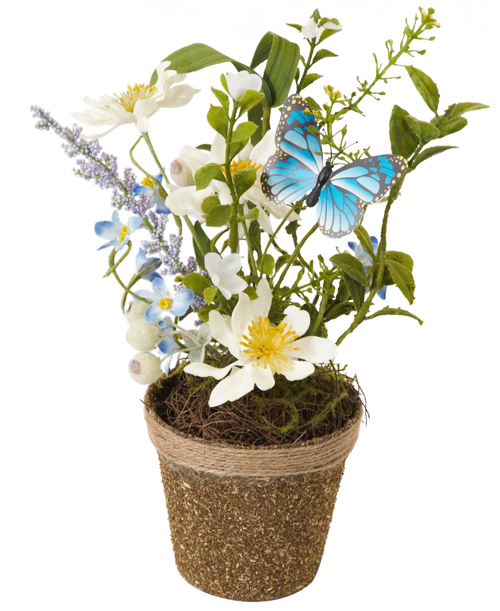 Silk spring flower twig potwhite daisy stephensons flowers and silk spring flower twig potwhite daisy stephensons flowers and gifts flowers plants and gifts with same day delivery for all occasions mightylinksfo