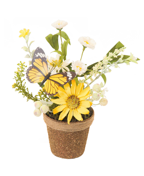 Silk spring flower twig pot yellow dais stephensons flowers and silk spring flower twig pot yellow dais stephensons flowers and gifts flowers plants and gifts with same day delivery for all occasions mightylinksfo